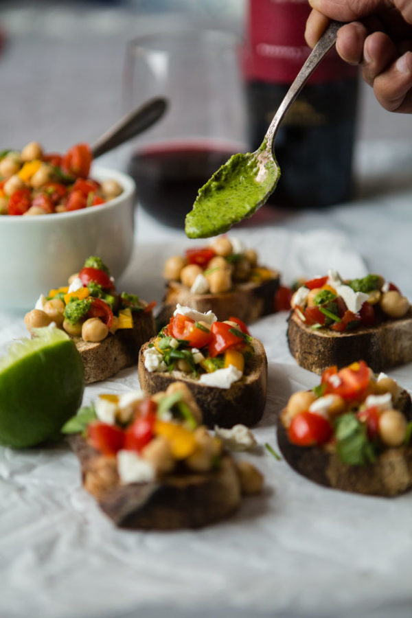 Indian Inspired Bruschetta